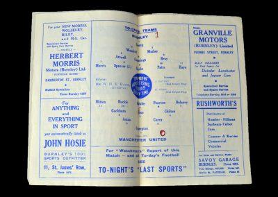 Man Utd v Burnley 24.09.1949