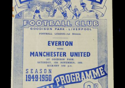 Man Utd v Everton 12.11.1949