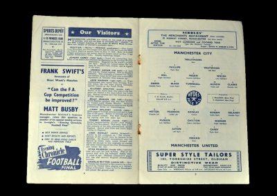 Man Utd v Man City 31.12.1949