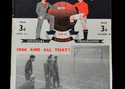 Man Utd v Everton 01.04.1950