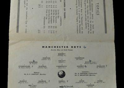 Manchester Boys v Liverpool Boys 10.05.1950