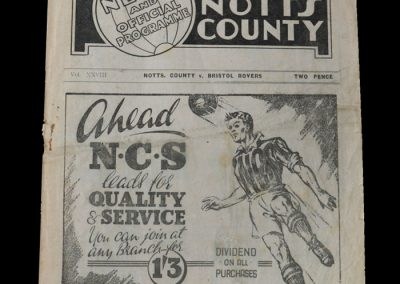 Notts County v Bristol Rovers 28.08.1948