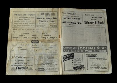 Notts County v Ipswich 09.09.1948