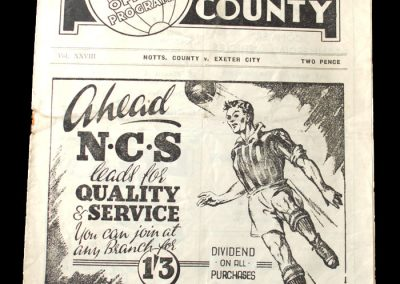 Notts County v Exeter City 16.10.1948