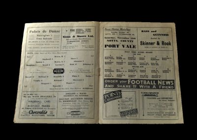 Notts County v Aldershot 30.10.1948