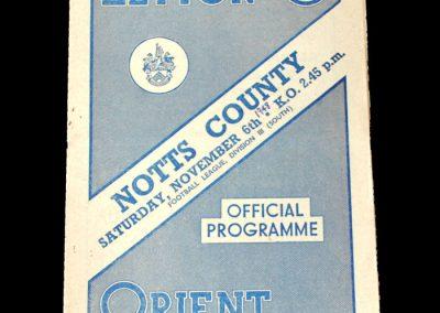 Notts County v Leyton Orient 06.11.1948
