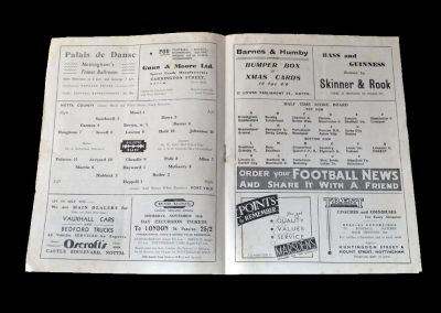 Notts County v Port Vale 13.11.1948