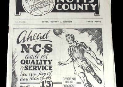 Notts County v Barrow 11.12.1948 - FA Cup 2nd Round
