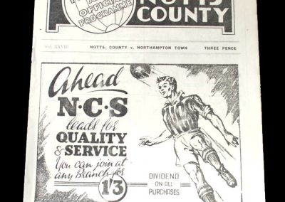 Notts County v Northampton 27.12.1948