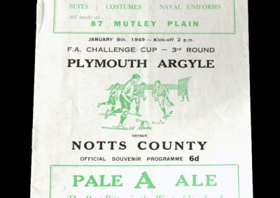 Notts County v Plymouth 08.01.1949 - FA Cup 3rd Round