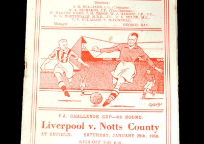 Notts County v Liverpool 29.01.1949 - FA Cup 4th Round