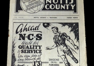 Notts County v Watford 26.02.1949