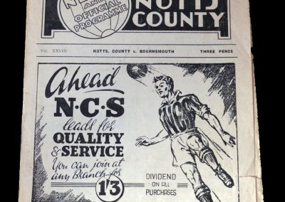 Notts County v Bournemouth 18.04.1949