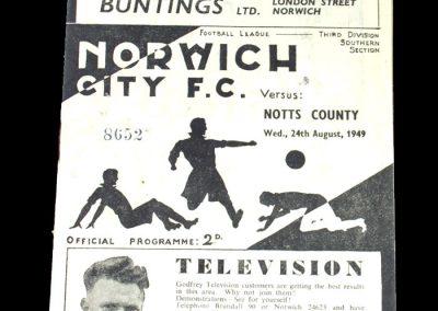 Notts County v Norwich 24.08.1949