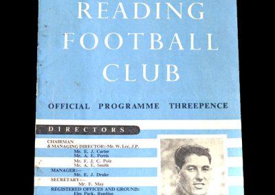 Notts County v Reading 24.09.1949