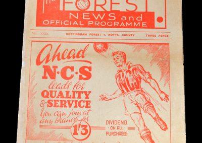Notts County v Notts Forest 03.12.1949
