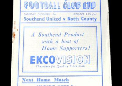 Notts County v Southend 17.12.1949