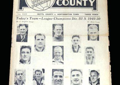 Notts County v Northampton 27.04.1950