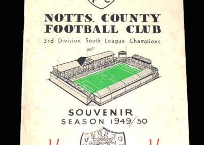 Notts County 1949/50 Champions Souvenir