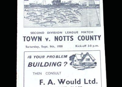 Notts County v Grimsby 09.09.1950