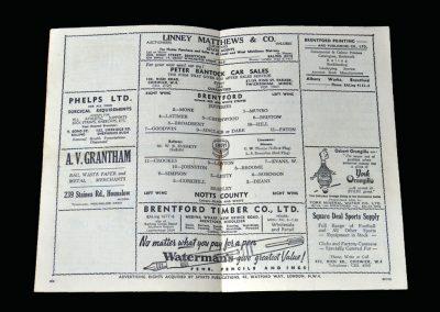 Notts County v Brentford 04.11.1950
