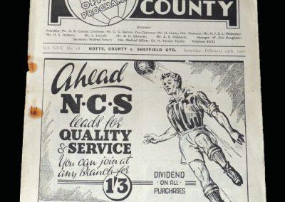 Notts County v Sheff Utd 24.02.1951