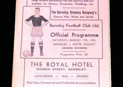 Notts County v Barnsley 17.03.1951