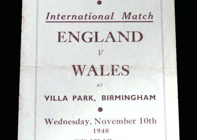 England v Wales 10.11.1948