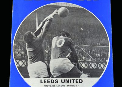Leeds v Everton 30.08.1969 (The champions 1st defeat in 34 games)