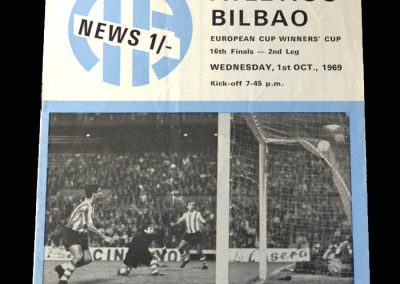 Man City v Athletico Bilbao 01.10.1969 - European Cup Winners Cup 1st Round 2nd Leg