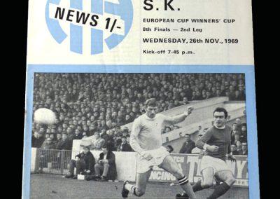 Man City v Lierse SK 26.11.1969 - European Cup Winners Cup 2nd Round 2nd Leg