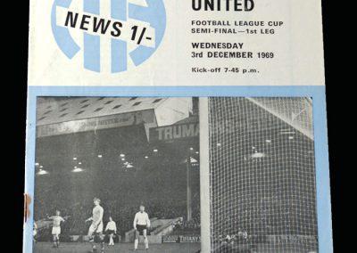 Man City v Man Utd 03.12.1969 - League Cup Semi Final 1st Leg