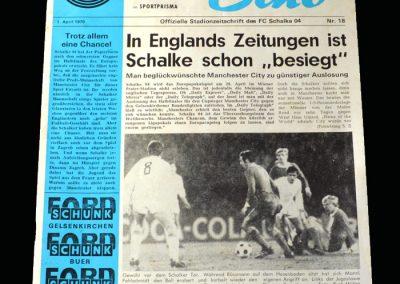 Schalke v Man City 01.04.1970 - European Cup Winners Cup Semi Final 1st leg