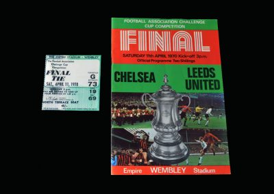 Chelsea v Leeds 11.04.1970 - FA Cup Final (with ticket)