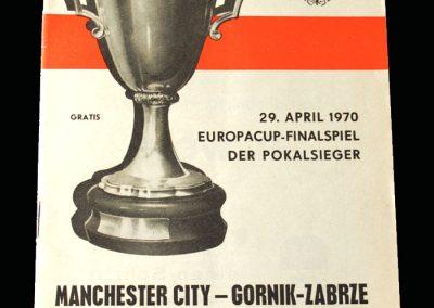 Man City v Gornik 29.04.1970 - European Cup Winners Cup Final