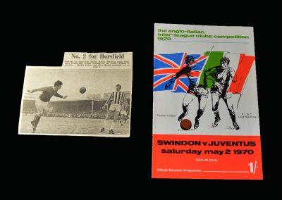 Swindon v Juventus 02.05.1970 - Anglo Italian Cup