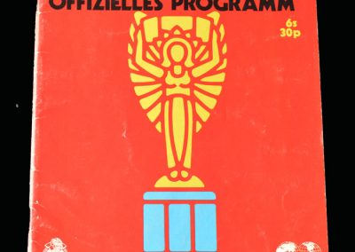 1970 Mexico World Cup Tournament Programme