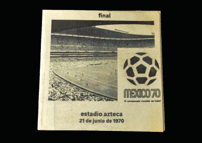 Brazil v Italy 21.06.1970 - World Cup 1970 Final