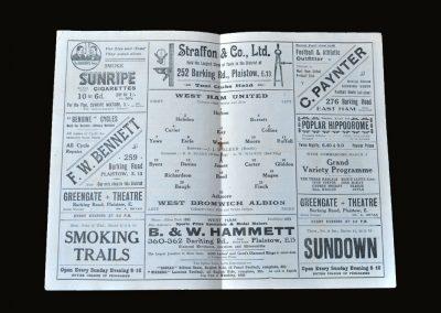 West Ham v West Brom 06.03.1926