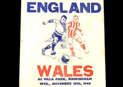 England v Wales 10.11.1948 (pirate)