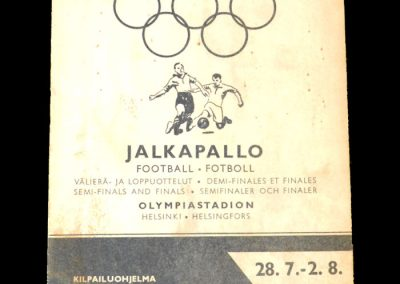 Hungary v Sweden 28.07.1952 - Olympic Semi Final - 6:0 | Hungary v Yugoslavia 02.08.1952 - Olympic Final - 2:0