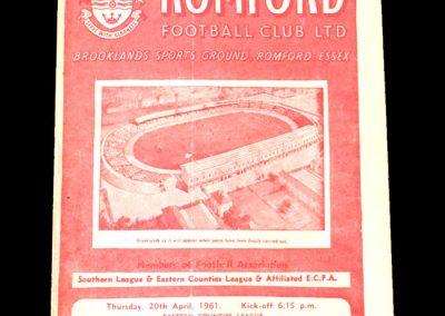 Romford v Spurs A 20.04.1961