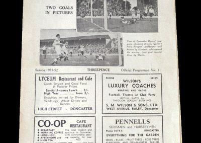 Doncaster v Luton 20.10.1951