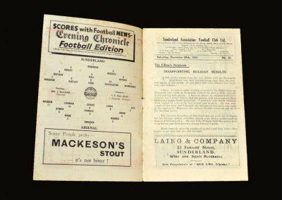 Sunderland v Arsenal 29.12.1951