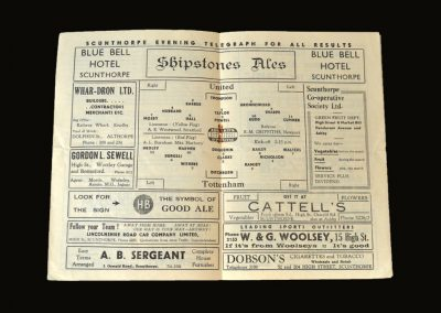 Scunthorpe v Spurs 12.01.1952 - FA Cup 3rd Round