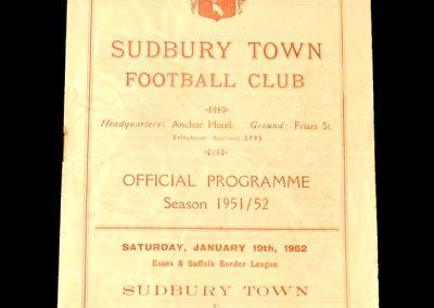 Sudbury v Long Melford 19.01.1952