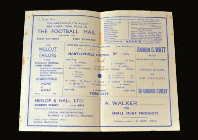 Hartlepool v York 19.01.1952