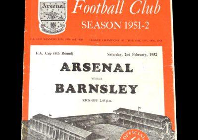 Arsenal v Barnsley 02.02.1952 - FA Cup 4th Round