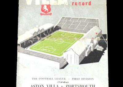 Aston Villa v Portsmouth 09.02.1952