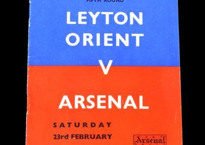 Leyton Orient v Arsenal 23.02.1952 - FA Cup 5th Round